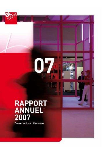 Rapport annuel - Document de référence 2007 - GL events