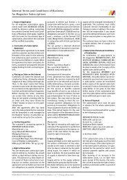General Terms and Conditions of Business for Magazine ...