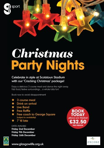 Christmas Party Nights - Glasgow Life