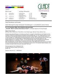 Newsletter Dezember 08 - Gladt