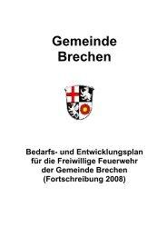 Bedarfs- und Entwicklungsplan der FFW Brechen - Gemeinde Brechen