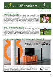 Newsletter August 2009 - Golfclub am Meer