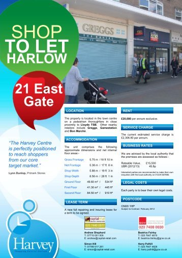 SHOP TO LET - GCW