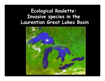 Ecological Roulette: Invasive species in the Laurentian Great Lakes ...