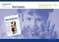Marktplatz - Kindergarten Heute