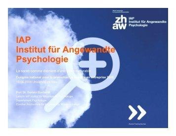 Présentation Daniela Eberhardt (pdf) - Gesundheitsförderung Schweiz