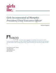 Girls Incorporated of Memphis President/Chief Executive Officer