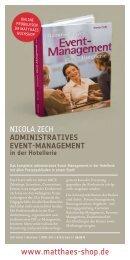 ADMINISTRATIVES EVENT-MANAGEMENT in der Hotellerie