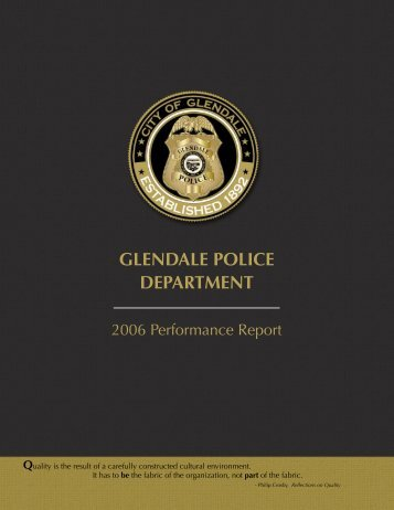 GLENDALE POLICE DEPARTMENT - City of Glendale