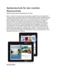 Spitzentechnik für den mobilen Reisevertrieb - Giata
