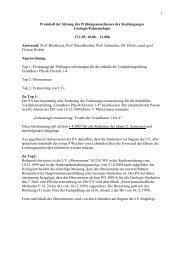 1 Protokoll der Sitzung des Prüfungsausschusses des ...