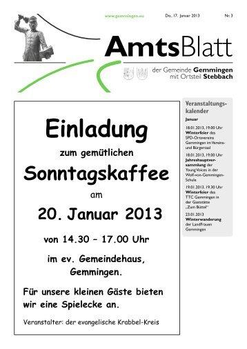 Amtsblatt KW 03 - Gemeinde Gemmingen