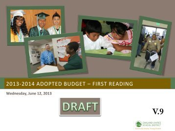 2013-2014 adopted budget - Great Oakland Public Schools ...