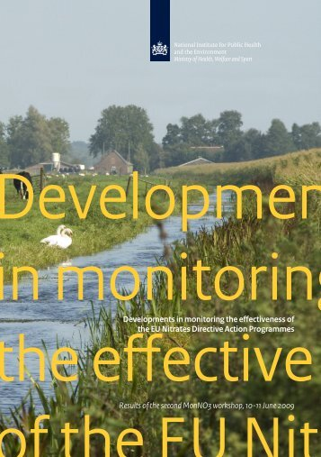 Developments in monitoring the effectvieness of the EU ... - GEUS