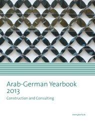 Arab-German Yearbook 2013 - Ghorfa