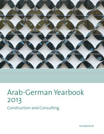 Arab-German Yearbook 2013 - Ghorfa