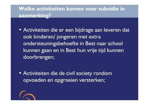 Subsidieregeling WMO 2014 - Gemeente Best
