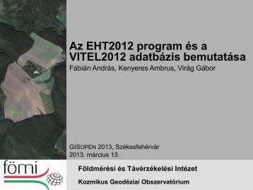 EHT2012 program I.