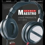 HEADSETS PROFESSIONAL HEADPHONES ... - german-maestro