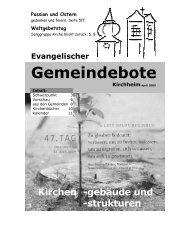 April 2009 - Gemeindebote