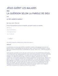 JÉSUS GUÉRIT LES MALADES ou LA GUÉRISON SELON LA ...