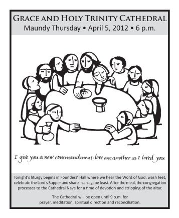 Holy/Maundy Thursday Cycles ABC Third Sunday of Easter