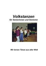 Volkstanzen - Pro Senectute Glarus