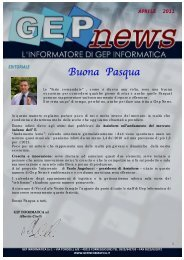 GEP NEWS APRILE 2011.pptx - GEP Informatica Srl