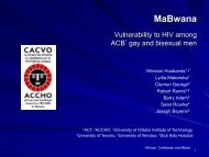 Vulnerability to HIV among ACB (African, Caribbean and ... - GMSH