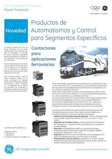 Productos de Automatismos y Control para Segmentos Específicos