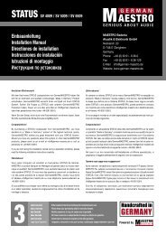Einbauanleitung Installation Manual Directiones ... - german-maestro