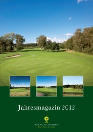 Jahresmagazin 2012 - Golfclub am Meer