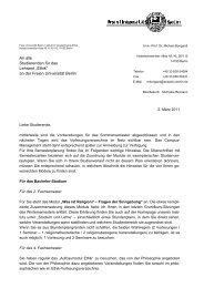 """An alle Studierenden für das Lehramt """"Ethik"""" - Freie Universität Berlin"""
