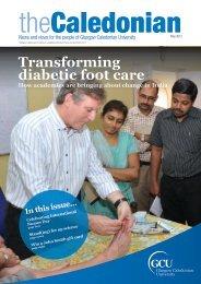 Transforming diabetic foot care - Glasgow Caledonian University