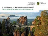 4. Amtsarztkurs des Freistaates Sachsen - Gesunde Sachsen