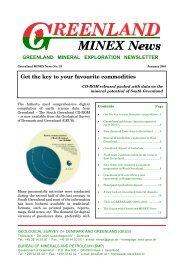 Greenland MINEX News No. 19, January 2001 - Geus