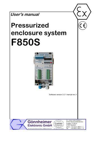 Pressurized enclosure system - Goennheimer.de