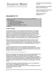 Newsletter Nr. 27 - Gesundheitsbeirat-muenchen.de