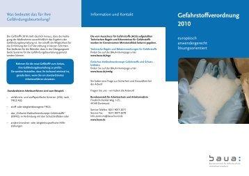 Faltblatt - Bundesanstalt für Arbeitsschutz und Arbeitsmedizin