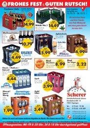 4,99 - Getränkefachmarkt Scherer