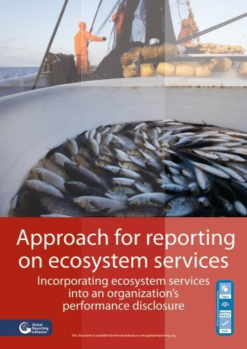Approach for reporting on ecosystem services - Biodiversity ...