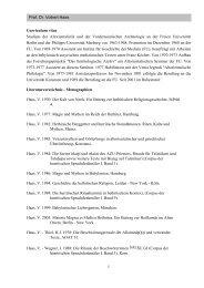 Prof. Dr. Volkert Haas Curriculum vitae Studium der Altorientalistik ...