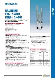 BAUREIHE FZ6 - 1.4301 FZN6 - 1.4401
