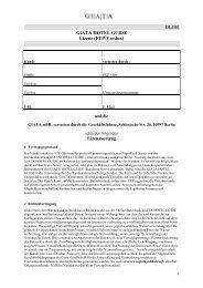 DLOR GIATA HOTEL GUIDE Lizenz (FTP-Version) Lizenzvertrag