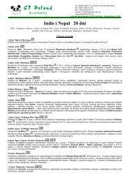 Program Indie i Nepal 20 dni 2010 - Gejsza Travel