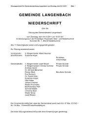 Gemeinderatssitzung vom 04.10.2011 - Langenbach