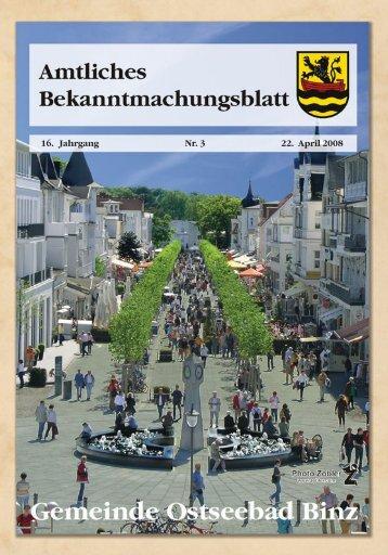 Nr. 3 vom 22. April 08 - Gemeinde Binz