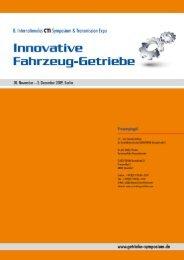 8. Internationales CTI Symposium Innovative Fahrzeug-Getriebe