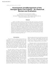 Assessment and Management of the Georges Bank Cod - Journal of ...