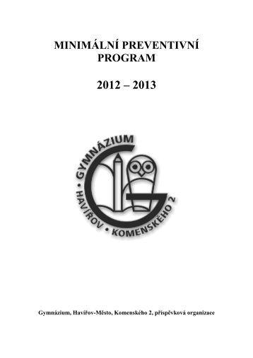Minimální preventivní program 2012-2016 - Gymnázium, Havířov